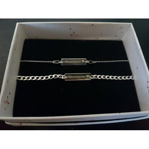 Set 19x5mm integral argint